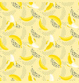 banana pop art seamless pattern on white vector image