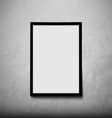 Black frame with Concrete Wall vector image
