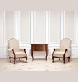 classic interior design vector image