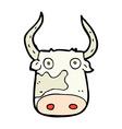 comic cartoon cow vector image