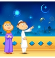Eid ka chand mubarak vector image
