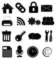 Internet web icons set vector image