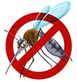 No mosquito sign on white vector image