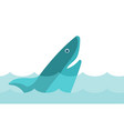 shark in the sea cartoon vector image