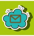 email message envelope cloud vector image