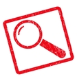 Magnifier Icon Rubber Stamp vector image