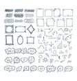 set of hand drawn arrows speech bubbles frames vector image vector image