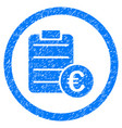 euro prices rounded icon rubber stamp vector image