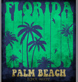 on the theme of surf and surfing in florida palm vector image