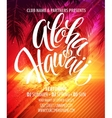 Aloha Hawaii Summer Beach Party Poster vector image