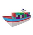 Dry cargo cartoon icon vector image