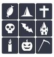 Halloween flat icons Set 1 vector image