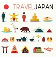 Travel Japan Icons vector image