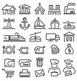 set line icons vector image vector image
