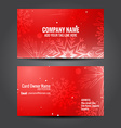 attractive business card template vector image