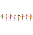 Large group of children of different ethnic vector image
