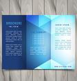 trifold polygonal shapes brochure design vector image