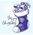 Decorative Christmas ornament Christmas sock hand vector image vector image