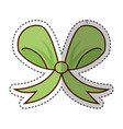 ribbon decorative bow icon vector image