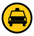 symbol taxi front car icon vector image