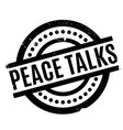 peace talks rubber stamp vector image