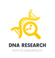dna research genetics icon over white vector image