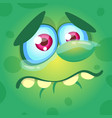 cartoon monster face crying vector image