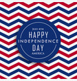 4th of july happy independence day america vector image