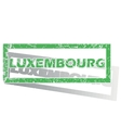 Green outlined Luxembourg stamp vector image