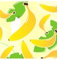 yellow banana vector pattern vector image vector image