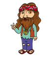 hippie vector image