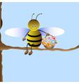 cute cartoon bee vector image vector image