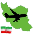 fly me to the Iran vector image