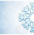 Abstract snowflake background vector image