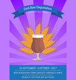 dark beer degustation on vector image