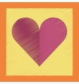 flat shading style icon Hearts suit vector image