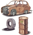 Old and Rusty Stuff vector image