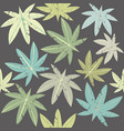 pattern with tropical palm leaves vector image