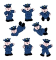 people professions policeman vector image
