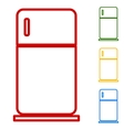 Refrigerator sign Set of line icons vector image