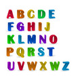 set of colorful alphabets with numerals 3d vector image