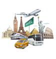 transport and travel vector image