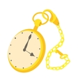 Pocket watch icon cartoon style vector image