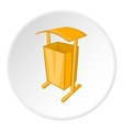Dustbin for public spaces icon cartoon style vector image