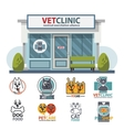 Veterinary medicine hospital clinic or pet shop vector image