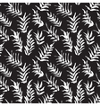 Ink seamless pattern with palm leaves vector image vector image