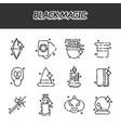 black magic cartoon concept icons vector image