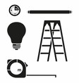 Ladder and Electric House Set vector image