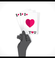 love card or valentine day greeting card vector image