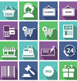 Set of modern flat shopping icons vector image